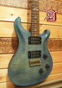 Prs Custom 24 10top Royal Blue 2003 Paul Reed Smith Hh Used Electric Guitar