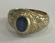United States Naval Academy 1925 Bailey Banks And Biddle 14k Sweetheart Ring Yg