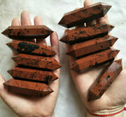 10 Pieces Natural Mahogany Obsidian Crystal Double Points Wands Healing