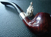 Dunhill Christmas Pipe 2003 - Limited Edition - 925 Silver Collar And Pipe Tamper
