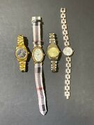 Group Lot Of 4 Quartz Gruen Working Womenandrsquos Watches Embassy Sterling Fashion