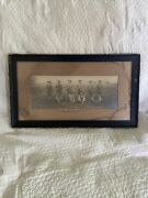 Antique Black Frame Military Buglers 7th Reg. Camp Perry August 1911 Photograph