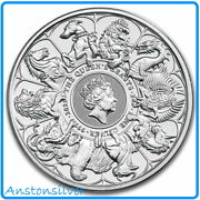 Presale 2021 Great Britain 2oz Silver Queen's Beasts Completer 🍒encapsulated🍒