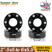 4x Wheel Spacers 5x5-6x5.5 12 Thick For Jeep Grand Cherokee Wrangler Dodge