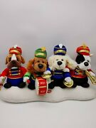 T.l. Toys Musical Plush Dog Marching Band Plays Jungle Bells Sound No Movement