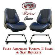 Deluxe Touring Ii Fully Assembled Seats And Brackets For 1970 Camaro - Any Color