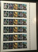 1992 Marvel Masterpieces Battle Spectra Chase Cards 6x Set Factory Uncut Sheet