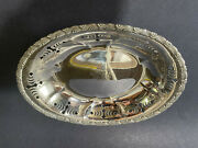 And Co. Sterling Silverantique Wave Edge Pattern Bread Trayc.190011