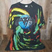 Vtg 1992 Van Halen Live Right Here Right Now Tour All Over Print Shirt