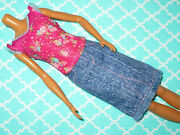 Mattel Barbie Doll Clothing Lot Fashionistas Tall Doll Skirt And Top Clothes 2pc