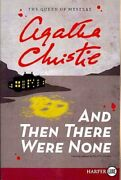 And Then There Were None By Agatha Christie 2011, Trade Paperback, Large...
