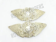 New Royal Enfield Petrol Tank Badges Live To Ride Brass Made Code1465