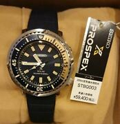 Vintage Seiko Prospex Diverand039s Solar Stbq003 V131-0am0 Menand039s Watch Used Authentic