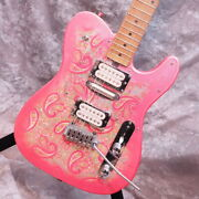 Fender Japan Tl69-75 Telecaster Hsh Mod Pink Paisley Used Electric Guitar
