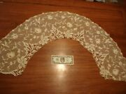Lg 19th Antique Victorian French Handmade Embroidery Flower Trim Edgingfree Sh