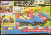 Little Tikes 620072x3cp Inflatable Jump 'n Slide Bouncer - New