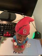 Signed St Louis Cardinals Willie Mcgee Bobblehead Gnome Sga Limited To 150