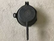 Antique Original Unrestored American No 8 Griswold Waffle Iron 885/886 High Base