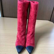 Boots Suede Red Size Women 7us