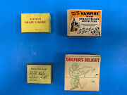 Vintage Magic Trick Lot Crazy Colors, Chain Escape, Rope Rings, Golfing Gag H