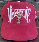 Euc Vintage 90s Mississippi State Bulldogs The Game Arch Snapback Hat Cap