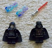 Lego Star Wars - Rare - Darth Vader And Sith Lord Emperor Palpatine - From 10188