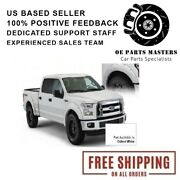 Bushwacker Fits 15-16 Ford F-150 Pocket Style Oxford White Front And Rear Fender
