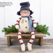 Marlow Snowman Whimsical Fabric Doll Country Christmas Farmhouse Winter Holiday