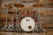 Hendrix Drums Perfect Ply Bubinga 5 Piece Drum Kit Natural High Gloss Lacquer