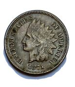 1871 Indian Head Penny Vf