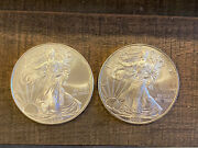 Two 2009 1 .999 Silver American Eagle Dollars Coins. No Reserve. Buy Silver