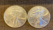 Two 2009 1 .999 Silver American Eagle Dollars Coins. No Reserve. Buy Now