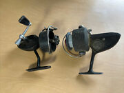 Lot Of 2 Vintage Dam Quick 330n Spinning Reel West Germany And Mitchell 300 France