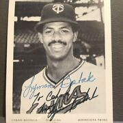 Lyman Bostock Autographed 4x5 Twins Issued Postcard Personalized