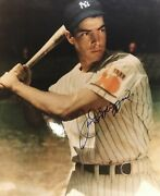 Joe Dimaggio Autographed 8x10 Color Photo From 1939