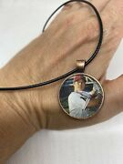 Shohei Ohtani Pendant Necklace Made From Topps 2021 Heritage Card 1 Inch