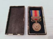 Original Ww2 Japanese China Incident Medal In Case