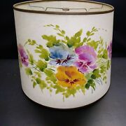 Lamp Shade Hand-painted 14w Base 12wtop 11.25h