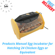 Products Manual Egg Incubator For Hatching 24 Chicken Eggs Or Equivalent
