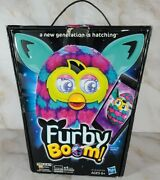 Rare Hasbro 2013 Furby Boom Pink And Blue Hearts Blue Ears New In Box