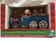 Peanuts Holiday Musical Train Plays We Wish You A Merry Christmas 2011 Roman Inc
