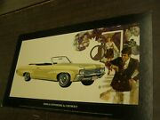 Oem Chevrolet 1970 Impala Convertible Dealership Display Picture Cardboard Chevy