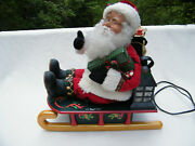Holiday Creations 1993 Animated Musical Lighted Santa Claus On His Sleigh