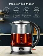 Aicook Precision Electric Tea Kettle 1.7l 6 Temp Presets With Led Display