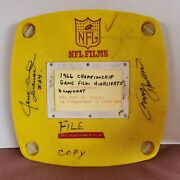 1966 Nfl Films Championship Game Film Autographed Jerry Kramer And Fuzzy Thurston