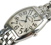 Franck Muller 7502 Qz Cintree Curvex Stainless Steel Womenand039s Quartz Watch