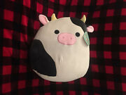 [new With Tags/squishmallows]- Andldquoconnor The Cowandrdquo 16andrdquo [vhtf] Ships Now