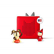 Toniebox Starter Set Red + Playtime Action - Educational Musical Toy For Boys -