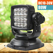 80w Led Search Light With Remote 360anddeg Magnetic Base For Cars Auto Boat Camping