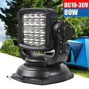 80w Remote Control Driving Light Led Spot 360anddeg Rotating Search Light For Boat Us